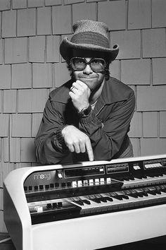 Elton John & Moog Piano 1978 Canvas Print