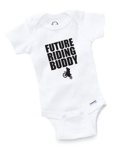 Future Riding Buddy Onesie Bodysuit Baby Shower Gift Funny Boy Girl Family Motocross Motorcycle Freestyle Moto X on Etsy, $10.80 CAD