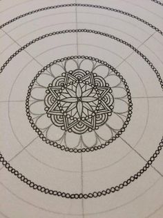 """adinafrigstad: """"How I make a mandala pt.1. """" In case some new followers want to learn how to make my mandalas☕️"""