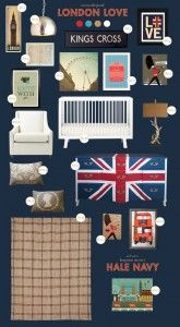 london baby nursery inspiration board