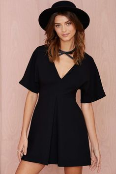 Nasty Gal Carrie Pleated Dress