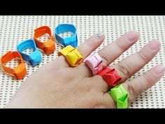 DIY Origami Ring Easy Paper Craft For Kids [AMY DIY] - YouTube