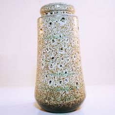 West German Pottery Vase with  Fat Lava Glaze by Scheurich in mint condition