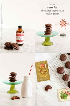 Gluten Free Chocolate Peppermint Cookie Recipe - A Healthy Life For Me