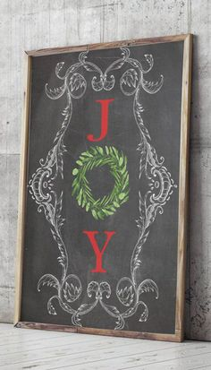 Art Print Holiday Decor JOY