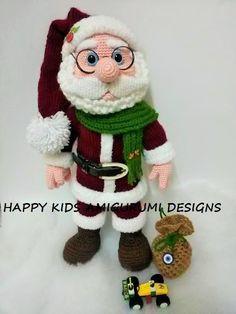 Weihnachtsmann zum häkeln