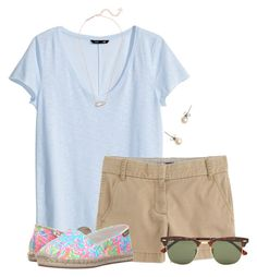 """""""Love these Lilly loafers:)"""" by flroasburn ❤ liked on Polyvore featuring H&M, J.Crew, Lilly Pulitzer, Kendra Scott and Ray-Ban"""