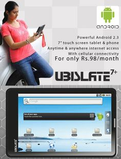 Android 2.3 Tablet for only €46. Taking over India.
