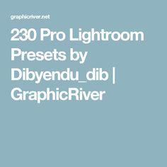 230 Pro Lightroom Presets by Dibyendu_dib | GraphicRiver