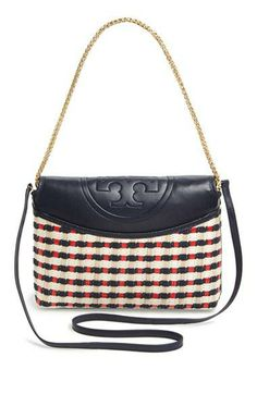 Hello, Gorgeous! Smitten by the new Tory Burch straw shoulder bag.