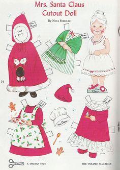 Mrs. Santa Claus Cutout Doll...