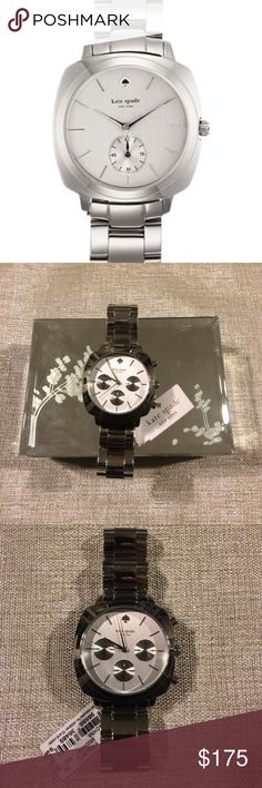 Kate Spade New York Stainless Steel Brooklyn Watch NWT Kate Spade Brooklyn Stainless Steel Link Watch! New never been worn! Message me with any questions! ❤️ kate spade Accessories Watches