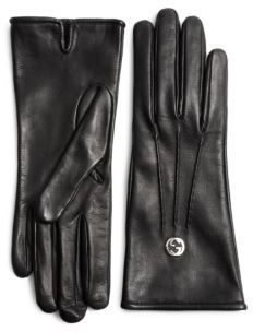 Gucci Guanti Donna Leather Gloves 0facfaa07386