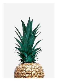 Poster with golden pineapple on light gray background. Nice trendy poster that . Poster with golde Cute Pineapple, Gold Pineapple, Scandinavian Wallpaper, Scandinavian Design, Pineapple Wallpaper, Clip Frame, Kitchen Posters, Vintage Interior Design, Online Posters