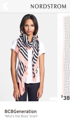 Adorable scarf that can be worn year round w/ a variety of clothes from BCBGeneration.