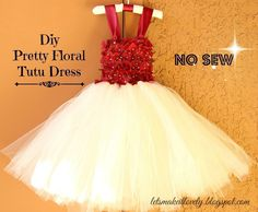 Diy Flower Girl Dress Or Tutu Dress  •  Free tutorial with pictures on how to sew a baby dress in 13 steps