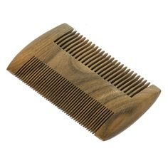 Sandalwood Comb- Wooden Anti-static Handmade Pocket Men Hair and Beard Wood Comb(teeth of Different Density on Both Sides)
