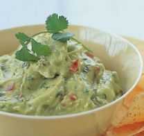 Asparagus Guacamole 1 lb. asparagus ends  1-inch pieces 1 lime ¼ c. cilantro  ¼ c. salsa ½ t. cumin ½ t. chili powder Garlic salt and black pepper  boil asparagus until very tender. Drain and rinse under cold water to cool completely. Drain well. blend cooled asparagus til smooth. Add remaining ingredients. Refrigerate. .