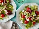 Cooking Channel serves up this Five-Minute Salad: Goat Cheese, Herb and White Bean recipe from Ellie Krieger plus many other recipes at CookingChannelTV.com