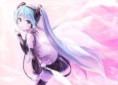 Hatsune Miku, Kaito, Kawaii Cute, Kawaii Girl, Fairy Tail, Anime Blue Hair, Blue Haired Girl, Mikuo, Pastel Wallpaper