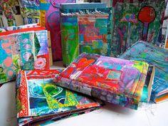 patchwork art journals by treiCdesigns, via Flickr