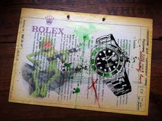 The Rolex Colletion - mixed media art with a strong focus on Rolex.