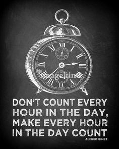 clock quote chalkboard print by fleamarkettrixie, via Flickr