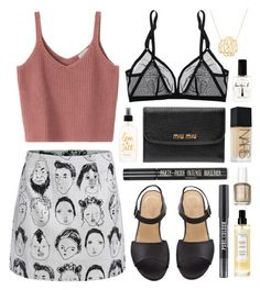"""Providence portraits"" by sophiehackett ❤ liked on Polyvore featuring moda, Eres, Lauren B. Beauty, Essie, NARS Cosmetics, Miu Miu, Topshop y Christophe Robin"