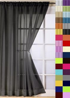 Plain voile #curtain panel rod pocket net slot top free 1st #class post 38 #colou,  View more on the LINK: http://www.zeppy.io/product/gb/2/280689655215/