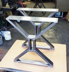 Modern Dining Table X Legs Model TTS09C Heavy Duty by DVAMetal