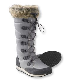 <p>This is not just another pretty boot. When weather calls for more rugged footwear, these lightweight snow boots have all the comfort and protection you need to battle the elements – in a unique, beautiful style. The nylon mesh upper features a suede heel and toe cap, along with a stunning faux fur top lining. Synch cord offers easy access and comfort around the calf. Heavily insulated to keep warmth in, while the TEK2.5® waterproof system keeps snow, slush and cold out. ...