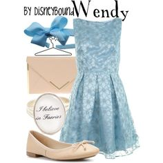 Wendy, created by lalakay on Polyvore #disney