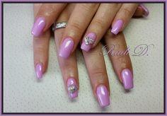 Bluesky gel polish 597  http://radi-d.blogspot.com/2015/06/pink-gel-polish-with-heart-nail-jewel.html