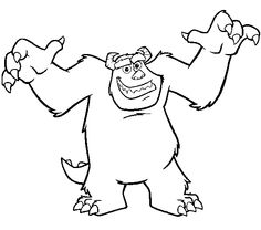 monsters inc characters coloring pages monsters inc coloring page print monsters inc - Monsters Coloring Pages Sully