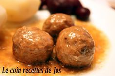 Le coin recettes de Jos: RAGOÛT DE BOULETTES À LA MIJOTEUSE Meatball Recipes, Meat Recipes, Slow Cooker Recipes, Cooking Recipes, Recipies, Slow Cooking, Canadian Food, Canadian Recipes, Ground Beef Recipes