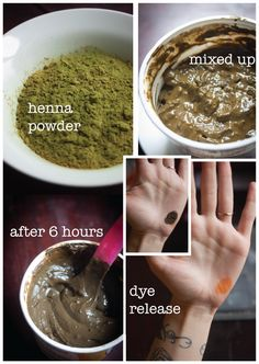 Steps to apply henna for natural hair color