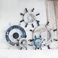 Buy Wood Boat Wheel Fishing Nautical Beach Home Rudder Wall Hanging Room Decor at Wish - Shopping Made Fun Boat Wheel, Room Decor, Wall Decor, Wood Boats, Coastal Farmhouse, Nordic Style, Wish Shopping, Deli