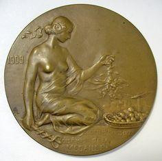 Penning van de Nederlands-Belgische Vereniging van Vrienden van de Penningkunst:: Travaux de Bruxelles-Port de Mer, 1909