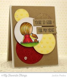You Have My Heart, Damask Background, Linen Background, Tiny Hearts Background, Stitched Circle STAX Die-namics, Stitched Fishtail Flag STAX Die-namics - Jackie Pedro #mftstamps