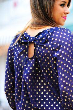 bow back polka dots