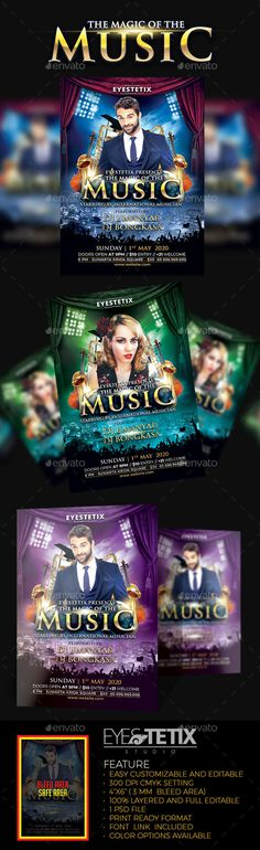 Sound Check Music Flyer Music flyer, Flyer template and Concert - music flyer