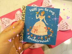 My Disney Themed bridesmaid invitations - featuring the original Little Golden Book cover of Cinderella <3
