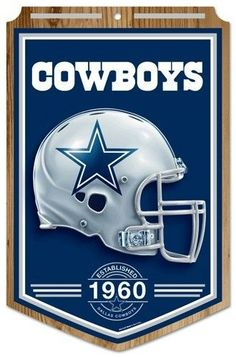 "Dallas Cowboys Wood Sign - 11""""x17"""" Established Design Z157-3208568740"