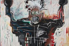 """Fondation Louis Vuitton Spotlights Jean-Michel Basquiat & Egon Schiele for New Exhibit: The pair """"became major figures in the art of their century. Keith Haring, Jm Basquiat, Jean Michel Basquiat Art, Basquiat Tattoo, Fondation Louis Vuitton, Jasper Johns, Action Painting, Bad Painting, Jackson Pollock"""