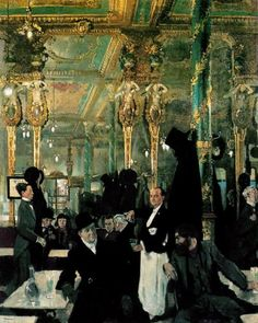 The Cafe Royal in London by William Orpen, 1912.