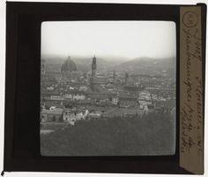 [Plaque de verre du fonds Colbert | EHNE] Italie, Florence, panorama depuis le belvédère