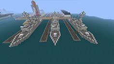 Minecraft Army Ships by *Yazur on deviantART