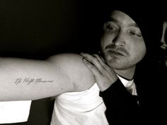 "Aaron Paul got a Breaking Bad tattoo the day they finished filming. It's the famous quote from Mike: ""No half measures"""