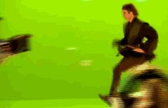 Hayden Christensen and Ewan McGregor Star Wars behind-the-scenes gif
