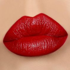How To Choose The Best Lipstick Colors For Your Skin Tone - Cherry Blossom blue based red lipstick swatch on olive skin. Best Lipstick Color, Lipstick For Fair Skin, Satin Lipstick, Lipgloss, Best Lipsticks, Lipstick Swatches, Lipstick Colors, Makeup Lipstick, Lip Colors